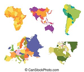 mondo, vettore, mappa, illustrazione