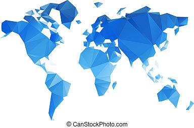 mondo, vettore, triangolare, file, mappa