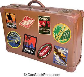 mondo, viaggiatore, valigia