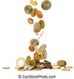 monete cadenti, euro