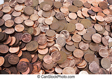 monete, sparso, collezione, 2, africano, sud