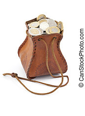 money-bag, monete