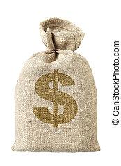 money-bag, simbolo, dollaro