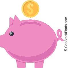 moneybox., maiale