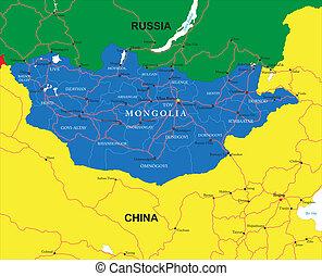 mongolia, mappa