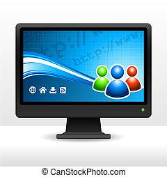 monitor computer, desktop
