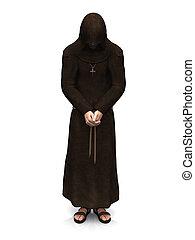 monk., cristiano, contemplare