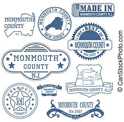 monmouth, contea, segni, generico, nj, francobolli