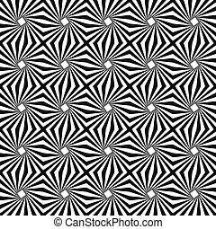 monocromatico, disegno configurazione, seamless, striscia