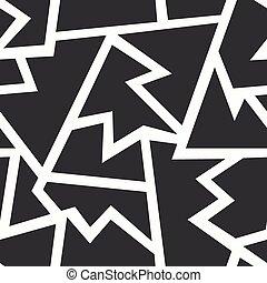 monocromatico, geometrico, seamless, modello