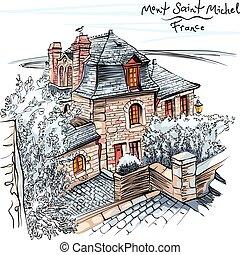 mont, francia, saint-michel, bretagna