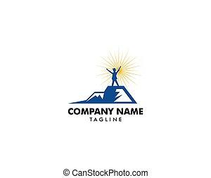 montagna, concetto, cima, riuscire, direzione, logotipo
