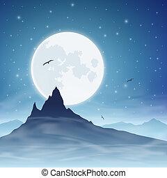 montagna, luna