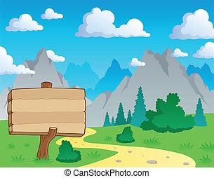 montagna, tema, 2, paesaggio
