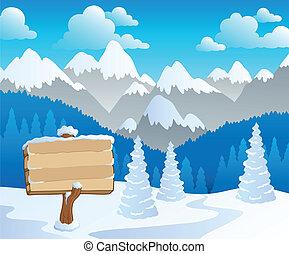 montagna, tema, 5, paesaggio