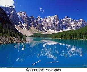 montagne blu, lago