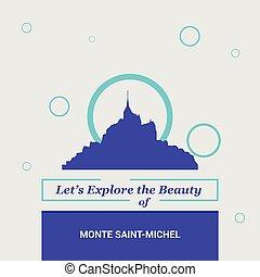 monte, michel, bellezza, nazionale, esplorare, francia, lasciarli, saint-, limiti