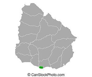 montevideo, mappa, uruguay