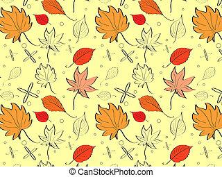 mood., foglie, giallo, autunno, luminoso, posto, fondo, place., tuo