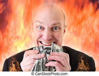 mortale, dollari, avarizia, avidità, peccato