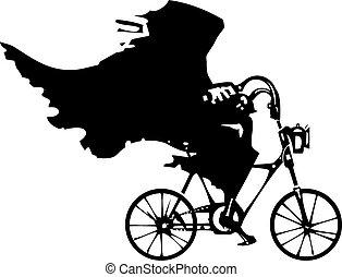 morte, bicicletta