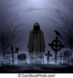 morte, cimitero, angelo