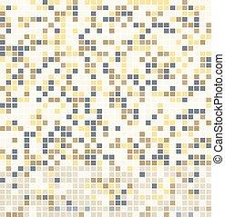 mosaico, astratto, quadrato, pixel, fondo