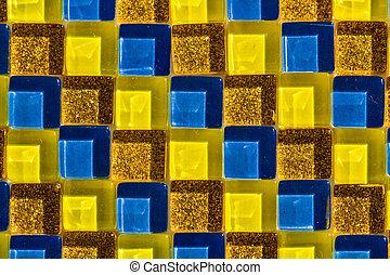 mosaico, colorito, fondo, vetro