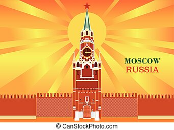 mosca, cremlino, torre, spasskaya