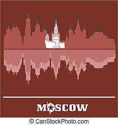 mosca, orizzonte, cremlino, russia