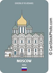 mosca, russia, arcangelo, cattedrale