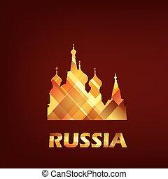 mosca, simbolo, santo, basilico, cattedrale, russia