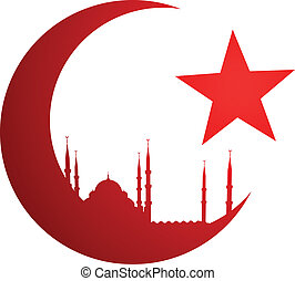 moschea, falce di luna