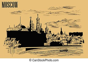 moscow-1, vettore, beige