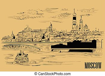 moscow-3, vettore, beige