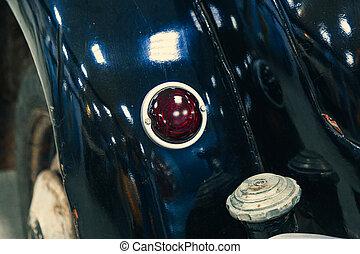 mostra, lampada, dettaglio, automobile, close-up., automobile.