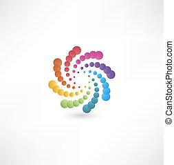motion., disegno, spirale, elementi