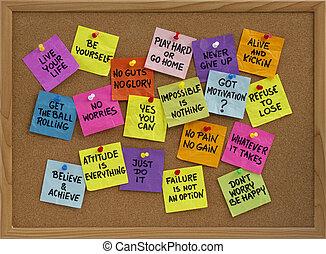 motivazionale, promemoria, scheda di bollettino