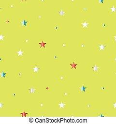 motivi dello sfondo, seamless, verde, stelle, luce