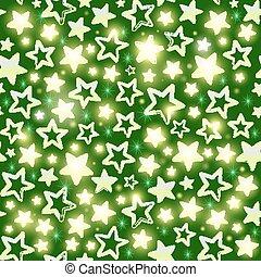 motivi dello sfondo, seamless, verde, stelle, lucente