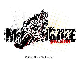 motocicletta, illustrazione