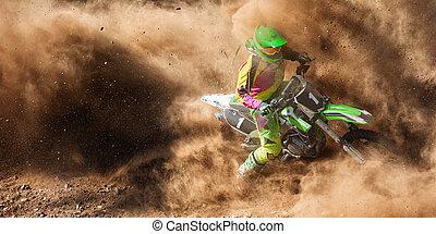 motocross, detriti, estremo, polvere, motorsport, sporcizia