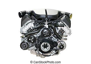 motore, automobile, isolato