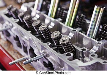 motore, automobilistico, componenti