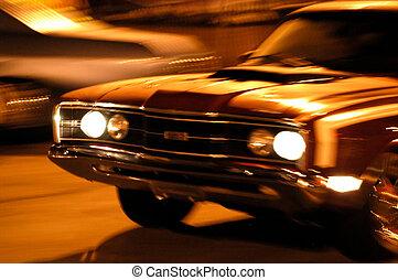 movimento, automobile, fronte