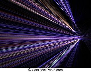 movimento, città, velocità, luci, offuscamento