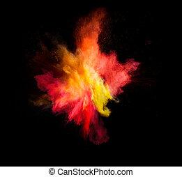 movimento, polvere, esplosione, colorato, congelare