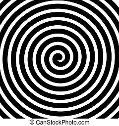movimento, spirale, rotante, linee, fondo, concentrico, voluta, circolare