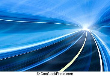 movimento, velocità, illustrazione, astratto
