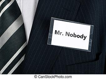 mr., nessuno